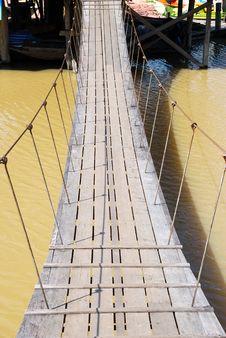 The Rope Bridge. Stock Images