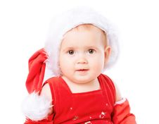 Free Baby In Santa Claus Hat Stock Photos - 16775813