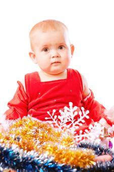 Free Baby In Santa Claus Hat Stock Photos - 16775823