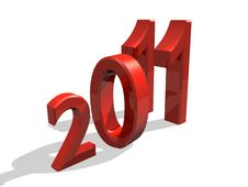 Free 2011 In 3d Royalty Free Stock Photo - 16776285