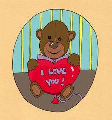 Free Valentine Teddy Bear Stock Photo - 16776750