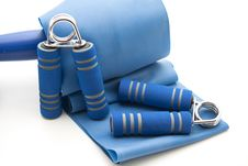 Free Finger Dumbbells With Ribbon Stock Images - 16776844