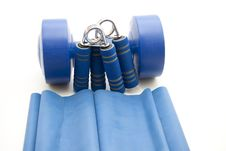 Free Finger Dumbbells With Ribbon Stock Image - 16776861