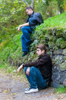 Free Two Men In The Park Royalty Free Stock Photos - 16776938