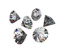 Free Different Diamonds Royalty Free Stock Photo - 16777165