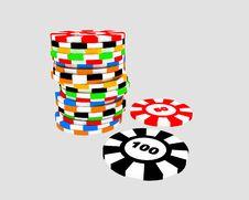 Free Casino Chips Stock Image - 16777251