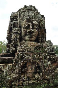 Free Bayon Temple At Angkor Siem Reap Royalty Free Stock Image - 16777936