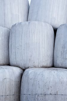 Free Hay Bales Wrapped In Plastic Closeup Stock Photography - 16778142
