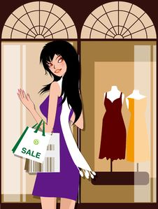 Free Shopping Girl Royalty Free Stock Images - 16778189