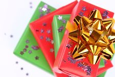 Free Gifts And Star Shaped Confetti Stock Photo - 16778880