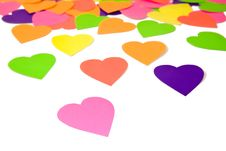 Free Colourful Haper Hearts Stock Image - 16779021