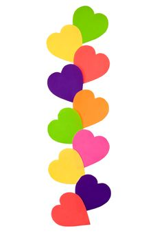 Free Colourful Paper Hearts Stock Photos - 16779023