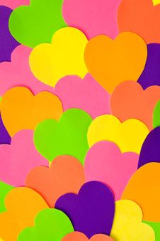 Free Colourful Haper Hearts Stock Images - 16779024