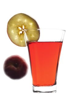 Free Glass Of Freshly Squeeze Red Apple Juice Stock Image - 16779141