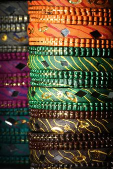 Free Bangles Background Royalty Free Stock Photography - 16779247