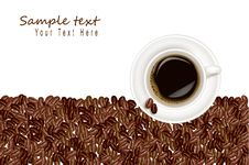 Free Design With Coffee Background. Royalty Free Stock Photo - 16779375