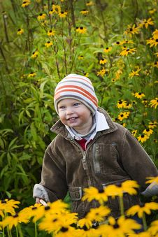 Free Toddler In Garden Stock Images - 16779754