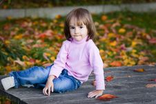 Free Autumn And Little Girl Stock Photos - 16779833