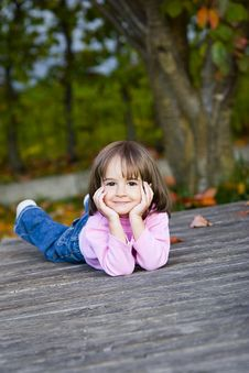 Free Autumn And Little Girl Stock Photo - 16779850