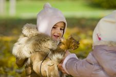 Little Girls Playing Stock Photography
