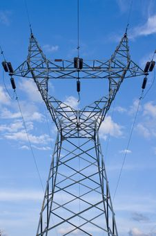 Free Power Plant And Power Lines Stock Image - 16780081