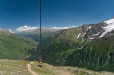 Free Sky Lift On Mountain Tcheget. Stock Image - 16780761