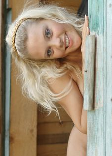 Portrait Of Rural Girl. Stock Photo