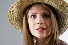 Free Girl In Hat Royalty Free Stock Photos - 16781178