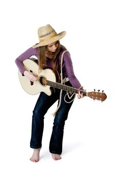 Free Girl With Guitar Royalty Free Stock Photos - 16781248