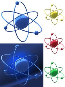 Free Representation Of An Atomic Structure Stock Photos - 16781503