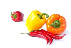 Free Capsicum. Sweet Peppers Royalty Free Stock Photography - 16781807