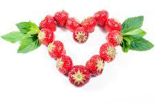 Free Strawberry Heart V3 Stock Image - 16782081