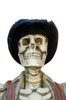 Skeleton Of The Criminal Royalty Free Stock Image