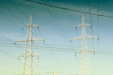 Free Electricity Pylons And Power Lines Stock Image - 16782581