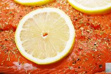 Free Salmon With Lemon Stock Images - 16783064