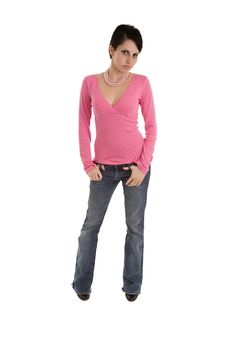 Free Model In Pink Top Stock Images - 16783954