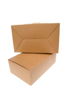 Free Brown Cardboard Box, Isolated On White. Stock Images - 16784414