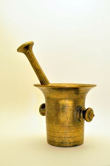 Free Old Brass Mortar Stock Image - 16784611