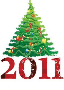 Free 2011 New Year Tree Royalty Free Stock Photo - 16784685