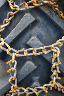 Free Rusty Chains On Vehicle Close-up Stock Photos - 16784823