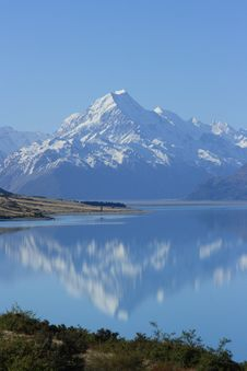 Mt Cook Reflections Royalty Free Stock Photography