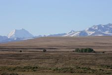 Free Mt Cook Over Dry Farmland Royalty Free Stock Images - 16785689