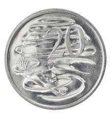 Australian Twenty Cent Coin Stock Image