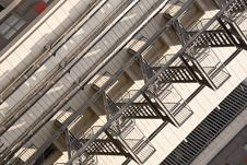 Free External Fire Escape In A Building Royalty Free Stock Photo - 16786205