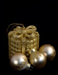 Free Composition Of Four  Christmas Balls Royalty Free Stock Photography - 16787017