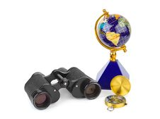 Free Binoculars, Compass And Globe Royalty Free Stock Photos - 16787418
