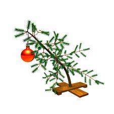 Free Little_bent_xmas_tree2 Stock Photos - 16787893