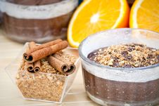 Chocolate Cake And Ingredients Royalty Free Stock Image