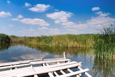 Free Wooden Dock On Wild Lake Stock Image - 16788121