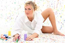 Free Woman With Paint Stock Photos - 16788213